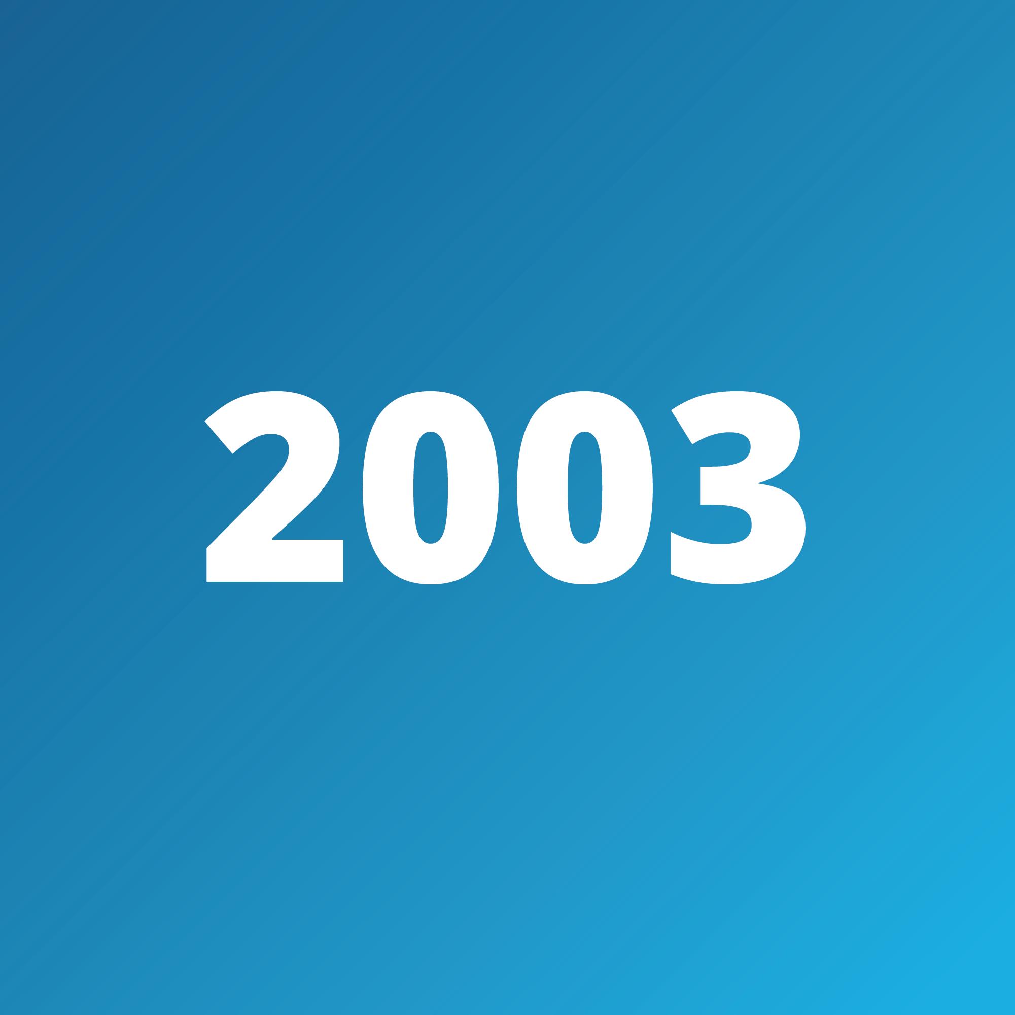 Timeline - 2003