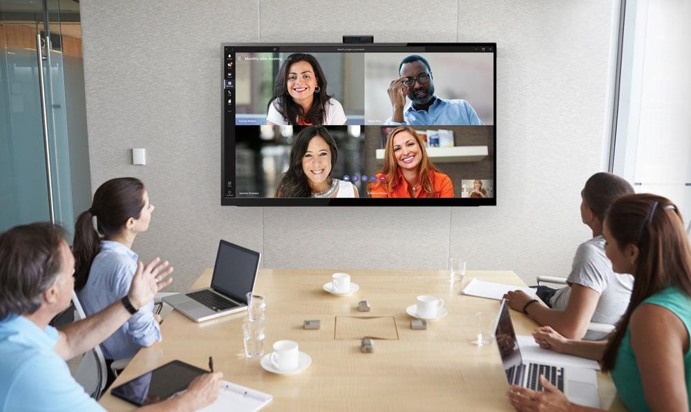 Microsoft Teams Room Collaboration Call