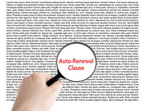 Searching for Auto-Renewal Clause