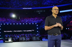 Microsoft Inspire 2019-Satya Nadellas presenting